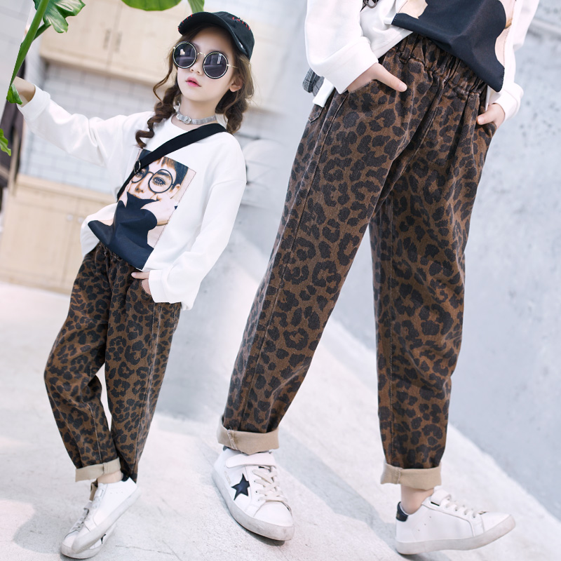 2018 Baby Boys Animal Trousers Kids Clothes Leopard Print Infant Toddler Casual Loose Long Pant Vetement Enfant Fille 10 12 14
