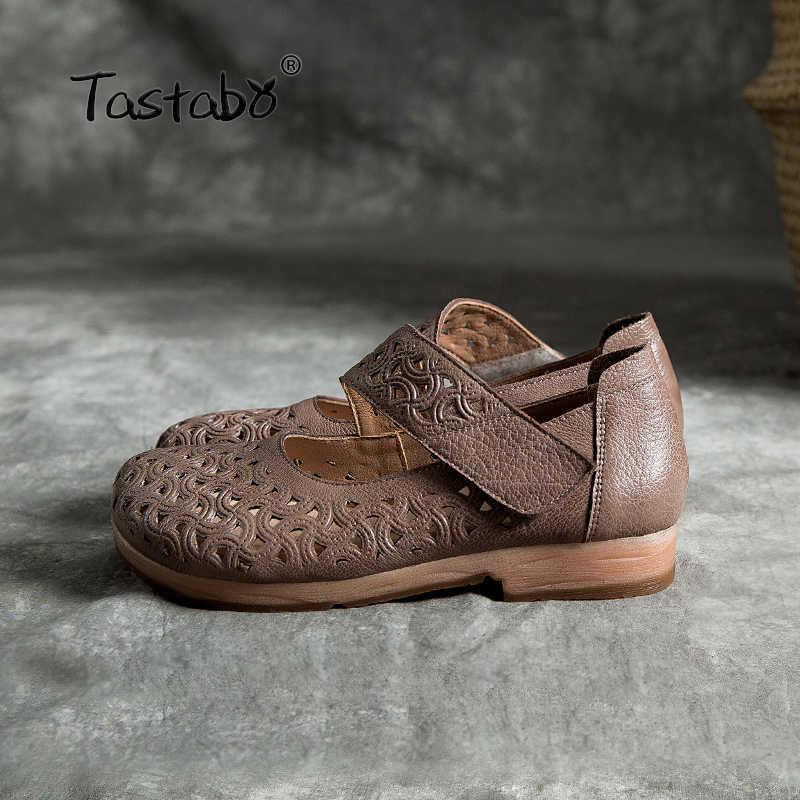 Tastabo 2019 yeni içi boş kadın ayakkabısı Rahat yumuşak alt Uygun Düşük topuklu ayakkabılar Rahat vahşi anne ayakkabısı Sığ ağız
