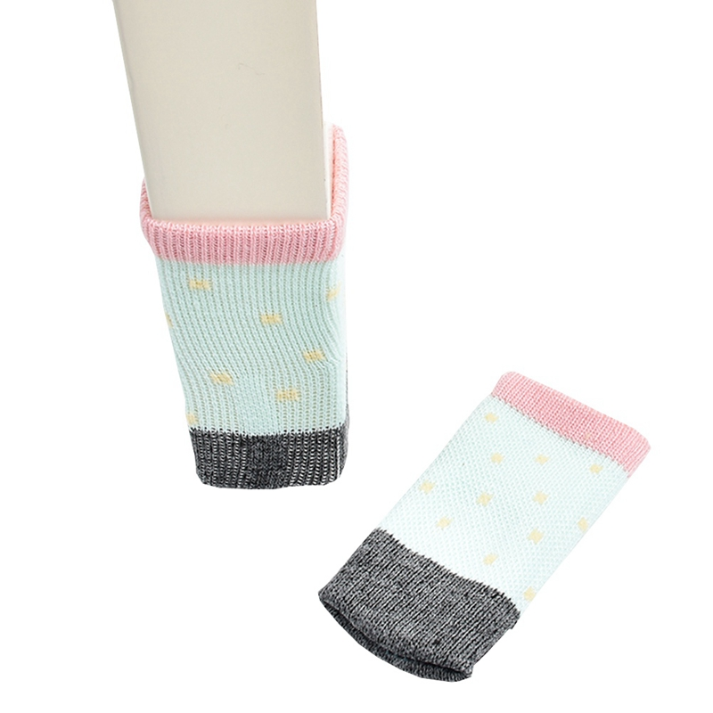 4pcs/set Useful Decorative New Cotton Furniture Leg Socks Chair Table Leg Protector Pads Chair Leg Floor Protectors
