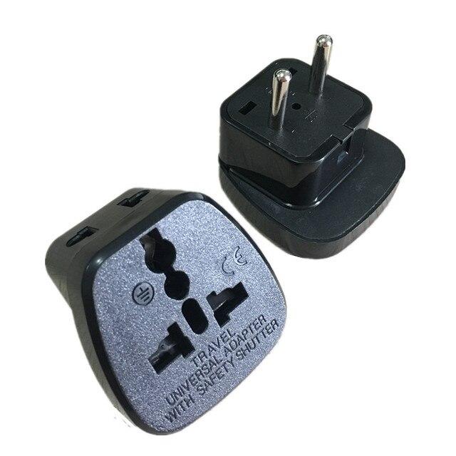 10pcs Travel Adaptor Plug Converter In Black Ce Marked U A E South America Russia China
