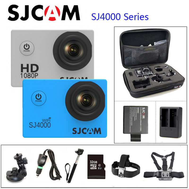 """Prix pour D'origine sjcam sj4000 série sj4000 & sj4000 wifi action camera 1080 p hd 2.0 """"étanche caméra sport dv connecteur ensemble"""