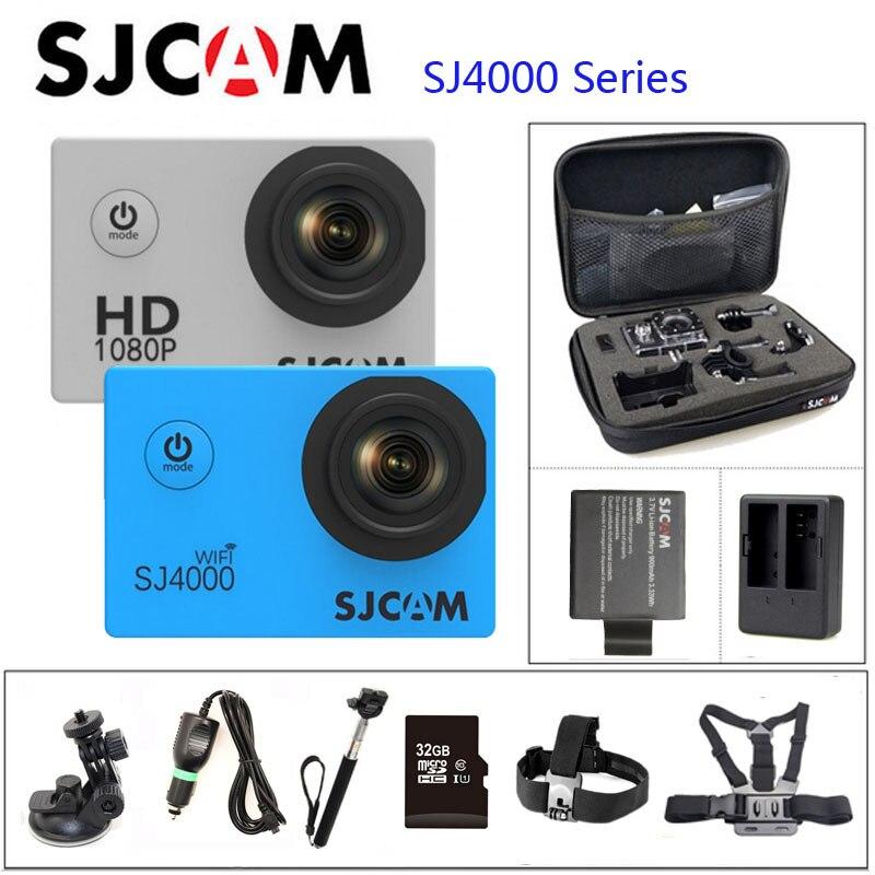 Série Original SJCAM SJ4000 SJ4000 & WIFI SJ4000 Câmera de Ação 1080 P HD de 2.0 Conector À Prova D' Água Câmera Esporte DV conjunto