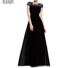 TELOTUNY, женское платье, цветочное, официальное, кружевное, винтажное, короткий рукав, тонкое, свадебное, макси платье, женское платье, модное, горячее предложение, новинка, Jan22