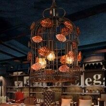 Творческий Стиле Лофт Железная Клетка Старинные Подвесные Светильники Античный Промышленный Светильник Подвесной Для Столовой Внутреннего Освещения