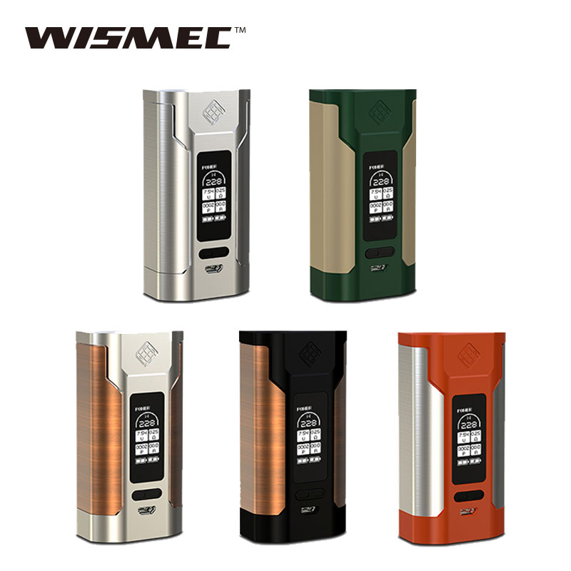 Original WISMEC Predator 228 TC MOD 228W Fit Elabo Tank Powered By Dual 18650 Battery Not Included E-cig Box Mod Vs Alien Mod