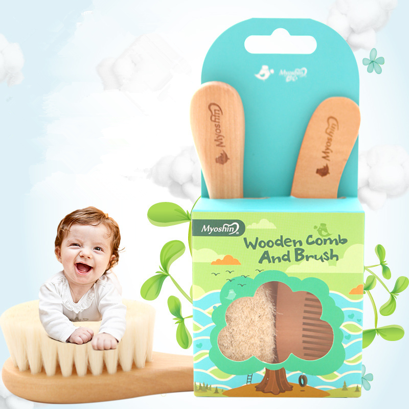 High Quality Baby Hairbrush Newborn hair brush Infant Comb Head Massager For Boys And Girls