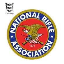 EARLFAMILY – autocollants graphiques de voiture 12cm X 12cm, étiquette de décoration de moteur automobile, étanche, Association nationale de fusil NRA