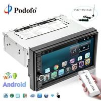 Podofo 2 Din Car Radio GPS Android 7.1 HD GPS Navigation Autoradio 7inch Touch Screen MP5 Player DAB+OBD Mirror Link Car Camera