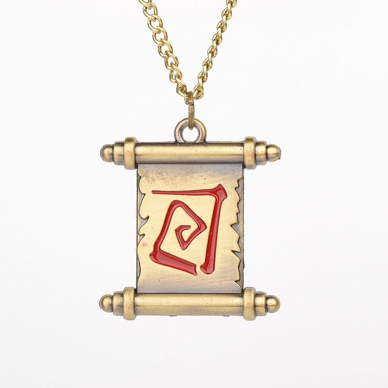 Hot Sales Online Game Dota 2 Reel Necklace transfer scroll Fashion Dota2 Lovers Pendant jewelry gift man women
