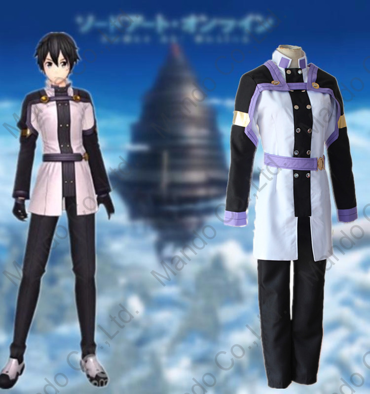 Anime Sword Art Online - Ordinal Scale Kirito Cosplay Costumes Mens Uniform Dress Halloween Cosplay outfit
