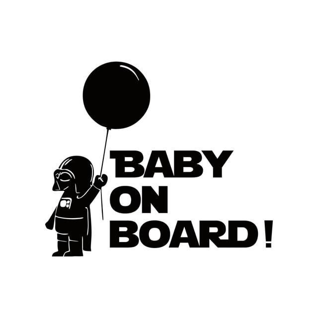Car Decoration Star Wars Baby On Board Reflective Car