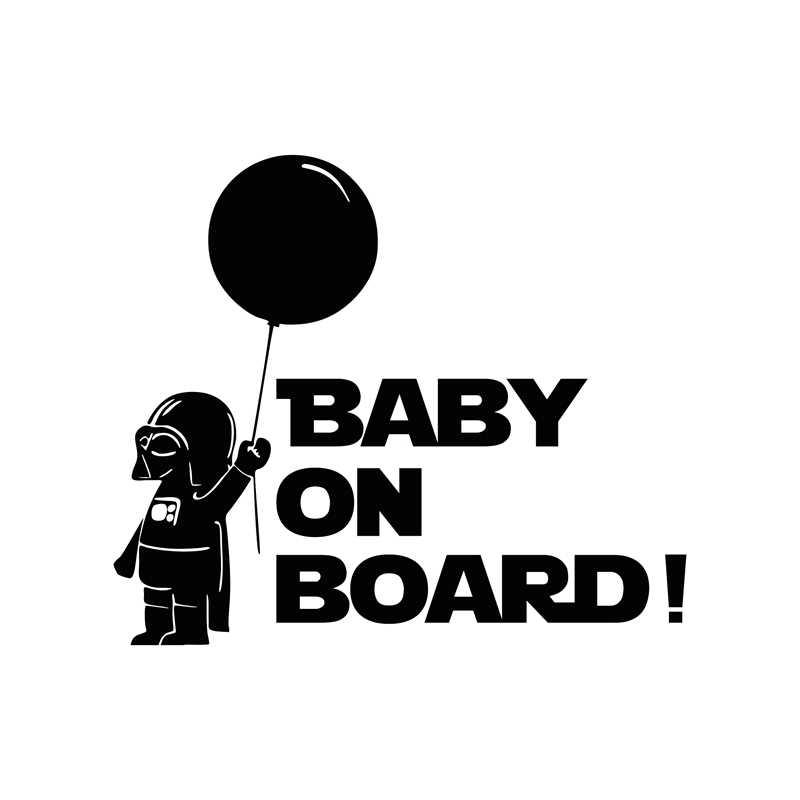 Dekoracja samochodu gwiezdne wojny dziecko na pokładzie odblaskowe naklejki i kalkomanie samochodu dla chevroleta cruze ford focus vw hyundai honda kia