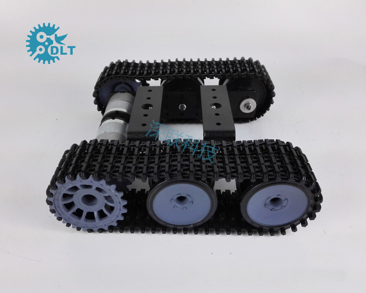 T101-P Caterpillar Tank Chassis Robot Intelligent Car with Version 33 motor muñeco buffon