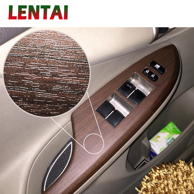 Lentai Car Sticker Wood Grain Film Fiber Vinyl Wrap Auto Interior