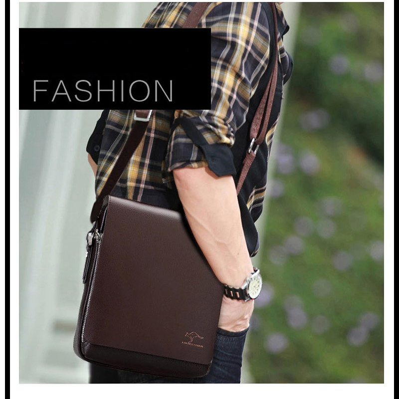 New men's Messenger Bag Luxury brand Kangaroo Man Bag fashion crossbody Bags for male Casual Shoulder bag Handbags Men Men's Bags