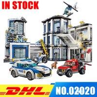 In Stock Lepin 02020 City Series The New Police Station Set Children Educational Building Blocks Bricks