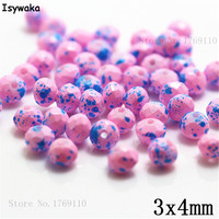 Isywaka 3X4mm 30,000pcs Rondelle Austria faceted Crystal Glass Beads Loose Spacer Round Beads for Jewelry Making NO.04
