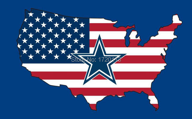 New style 3x5FT Dallas Cowboys flag with American banner flag 100D Polyester NFL flag hot sell Dallas Cowboys flag