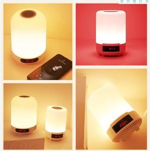 Image 5 - Kuliai night light com bluetooth speaker, SHAVA portátil sem fio bluetooth speaker touch control LED color night light