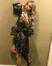 купить 2018 Europe Summer High Quality Designer Dress Silk Floral Print Mini Dress Long Sleeve Vintage Ruffle Dress For Women Vestdios по цене 9075.63 рублей