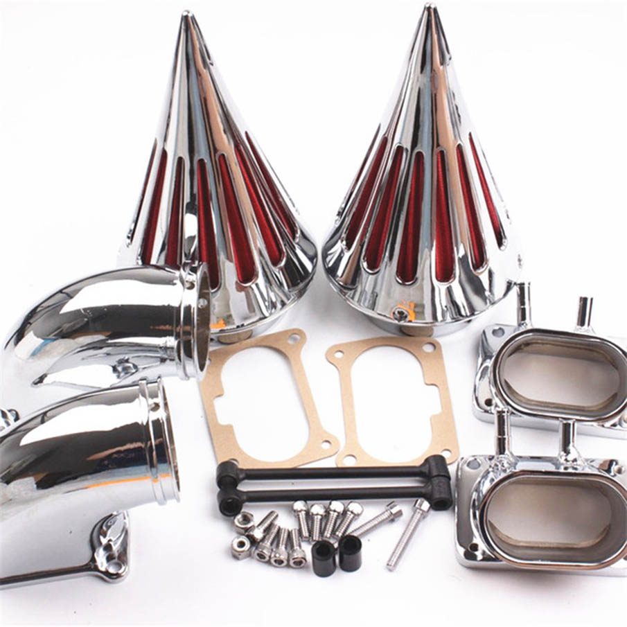 Billet Aluminum For Suzuki Boulevard M109R M 109R All Year Moto Accessories Set Spike Air Cleaner Filter Kit Intake Chrome