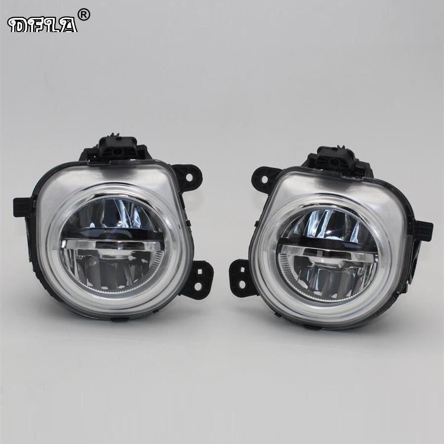 Car LED Light For BMW X5 F15 M F85 2012 2013 2014 2015 2016 Car-Styling Front LED DRL Fog Light Fog Lamp Assembly