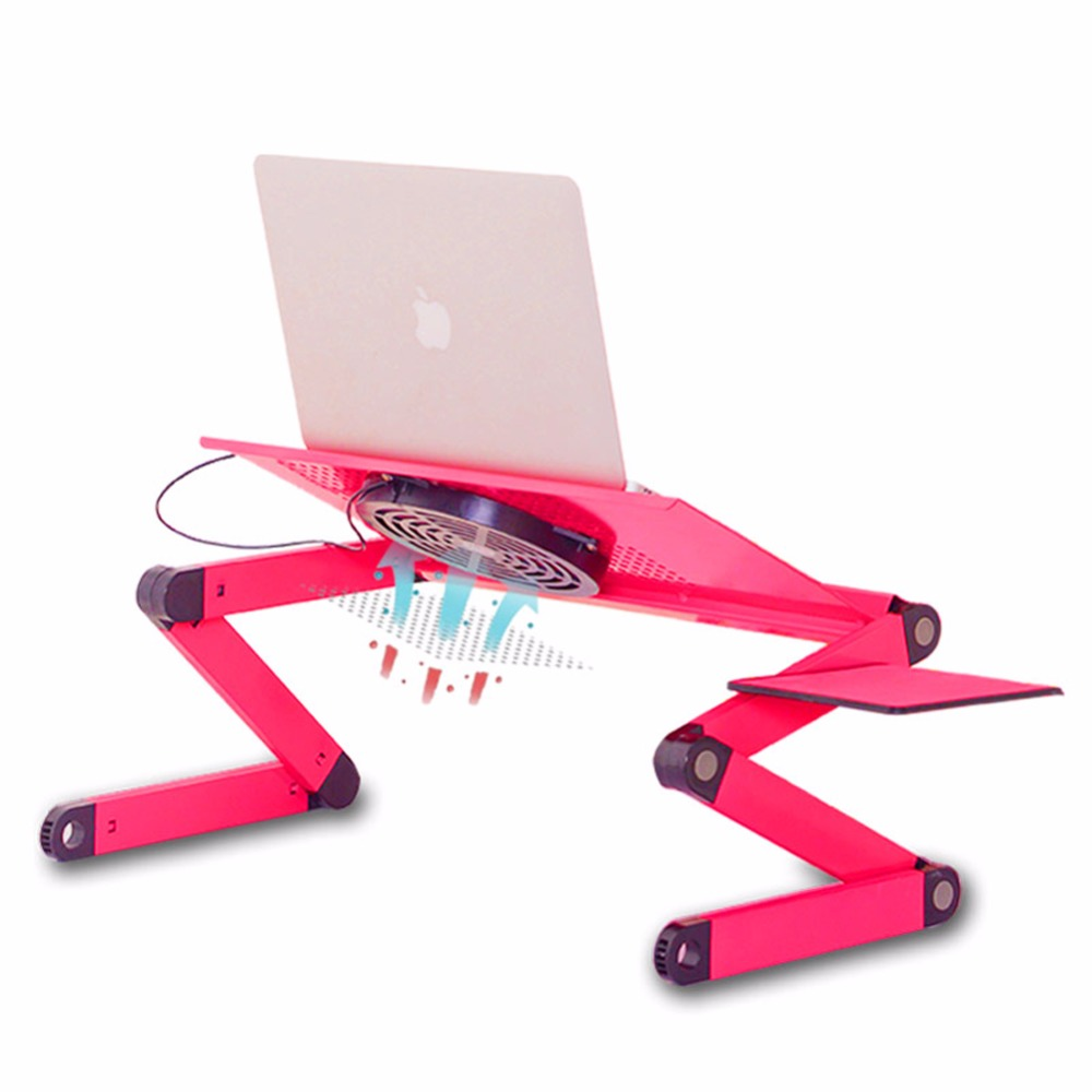 1 Pc/Pack Solid Durable Ajustable Foldable Lapdesk With Cooling Fan For Office And Home