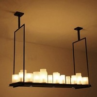 Modern Kevin Reilly ALTER 95cm LED E27 E14 Glass Iron Candles Engineering Droplight Rectangle Pendent Light