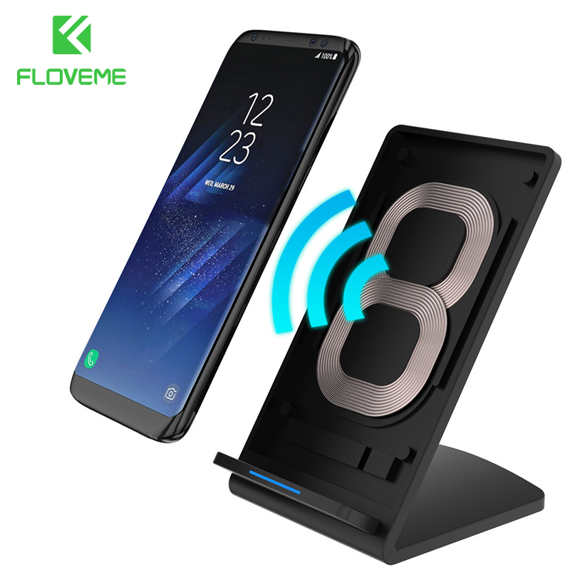 floveme universal qi wireless charger for samsung galaxy s8 plus s6 s7 edge note 5 7 usb. Black Bedroom Furniture Sets. Home Design Ideas