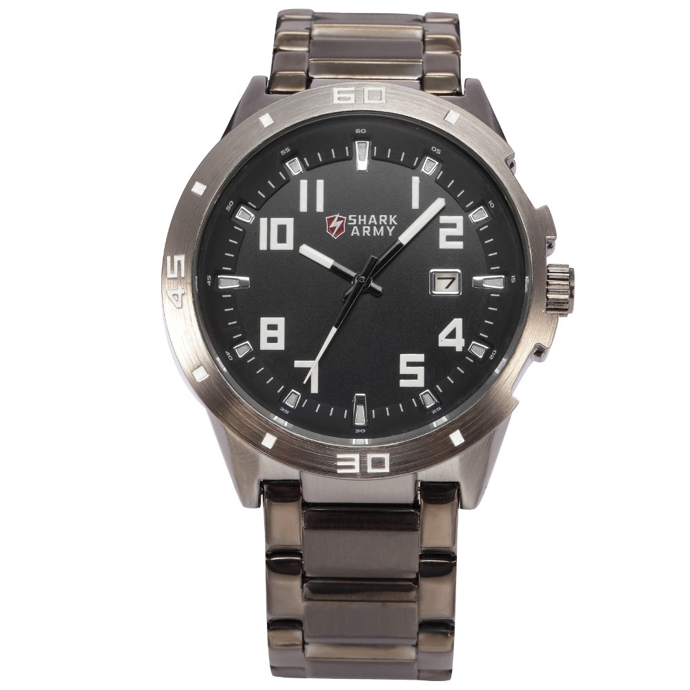 где купить Shark Army Climbing Black Watch Auto Date Display Stainless Steel Strap Relogio Men Outdoor Military Tag Heuer Watch / SAW074 по лучшей цене