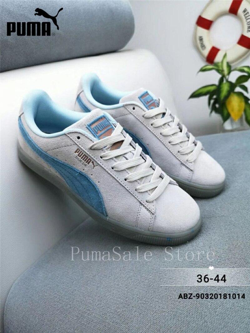 2018 Original PUMA Womens Suede Classic Glitz Shoes Low Top Wn s Badminton  Shoes Size EUR36- c5ca06f06