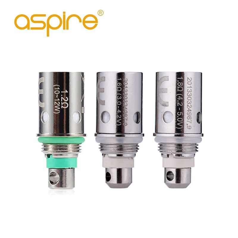 5pcs/pack Aspire Regular BVC Coil 1.6ohm 1.8ohm 1.2ohm Replacement Vape Core Atomizer Head for CE5 Clearomizer and Spryte Kit e cigarettes aspire bdc coil 1 6 1 8 2 1ohms replacement bottom dual coil head for aspire vaporizer 5pcs lot