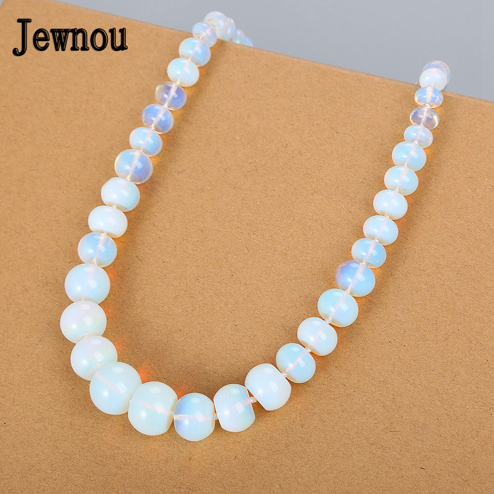 23d1a38c31e4 Collar de ópalo Jewnou Piedra Natural gargantilla de Cristal Arco Iris  piedras preciosas cadena ...