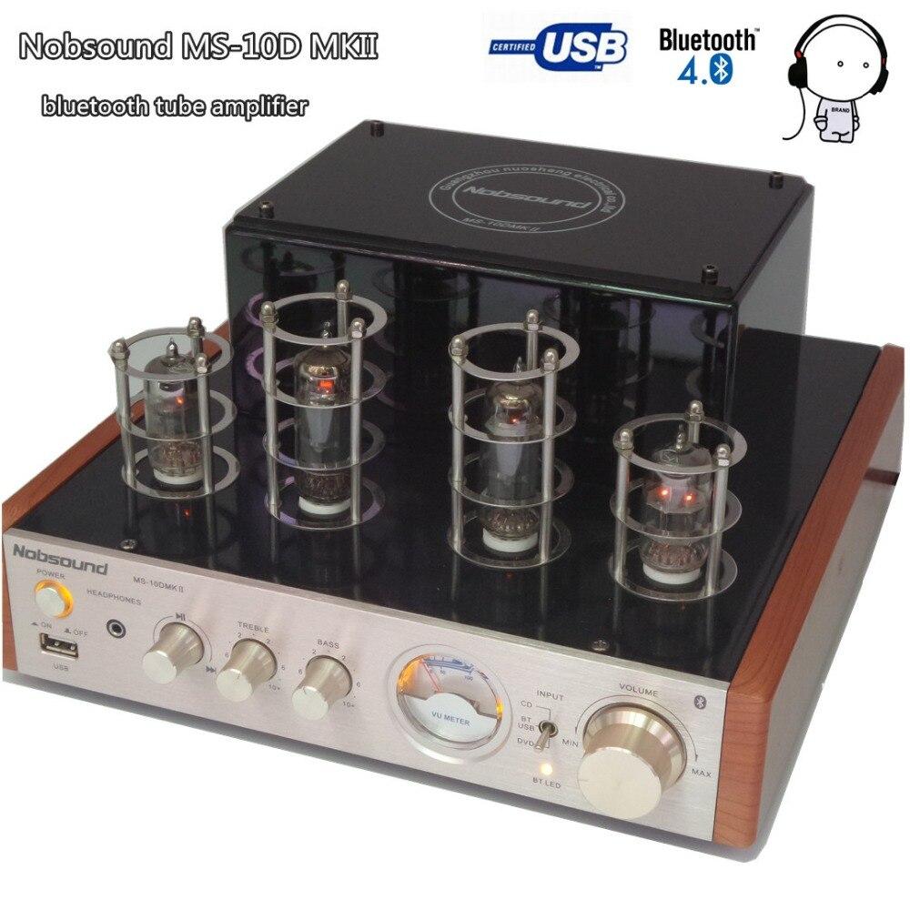 Nobsound MS-10D MKII bluetooth tubo a vuoto amplificatore Hifi 2.0 il disc del USB U riprodurre musica MP3 amplificatore Audio altoparlante 25 W * 2