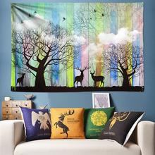 Natural Tapestry Wall Hanging Wood and Cloud Forest Elk Wall Art Boho Decor Psychedelic Wall Tapestry Hippie Wall Cloth 200x300