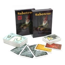 Saboteur 1+2 card game with english instruction jogos de tabuleiro dwarf miner jeu de base+extension board game