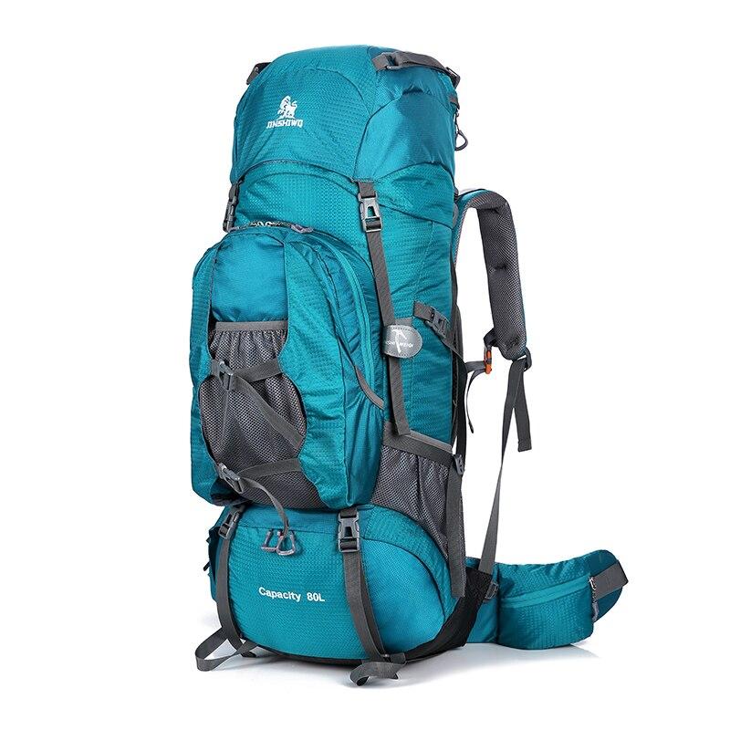 New 80L Outdoor Backpack Men Camping Climbing Bag Waterproof Large Capacity Hiking Backpacks Molle Sport Bag Climbing Rucksack