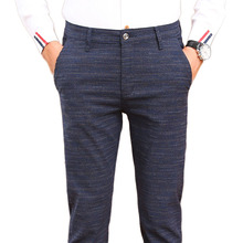 HCXY 2019 autumn and winter Mens Casual Pants thick Men Trousers Plus velvet Business Straight