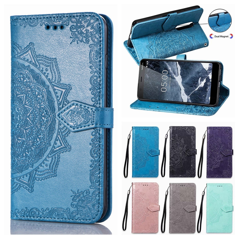 <font><b>5</b></font>.1 <font><b>Case</b></font> on for <font><b>Nokia</b></font> <font><b>5</b></font> 2018 Core <font><b>Case</b></font> Flip Leather 3D Mandala Flower <font><b>Case</b></font> for <font><b>Nokia</b></font> <font><b>5</b></font>.1 TA-1061 TA-1075 TA-1081 Cover Coque image