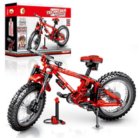 Free Shipping Small Particles Building Blocks Mountain off Road Bike Product Mechanical Password Science And Technology