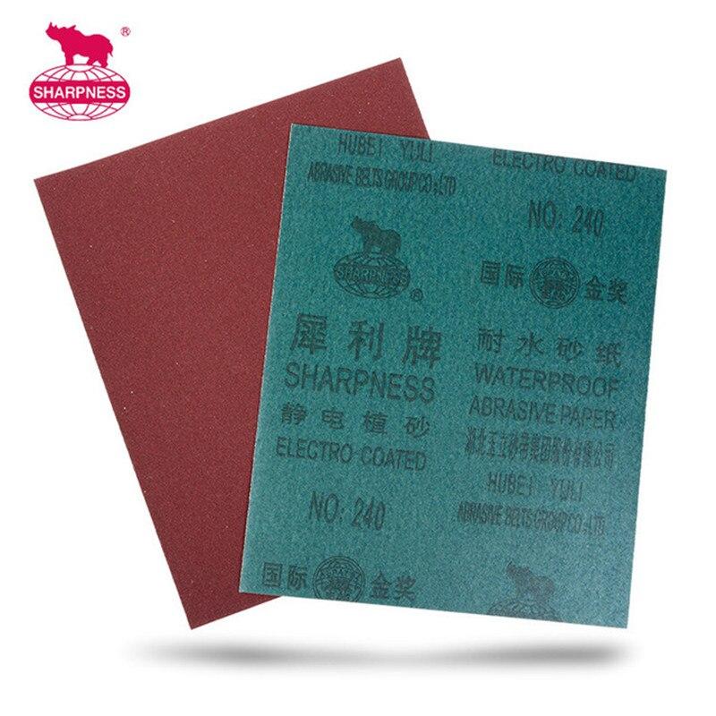10pcs/lot 28x23cm Waterproof Abrasive Paper Wood Metal Car Wall Polishing Tools  Sand Paper Emery Cloth Abrasive Cloth Sandpaper