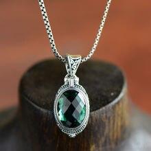 Женский кулон из серебра 100% пробы с драгоценным камнем