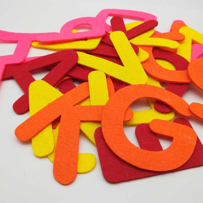 WISHMETYOU 8 เซนติเมตร 26 ตัวอักษรโพลีเอสเตอร์ผ้าสำหรับเด็ก Diy Scrapbooking อุปกรณ์เย็บของเล่นตกแต่งบ้าน Early การศึกษาหัตถกรรม