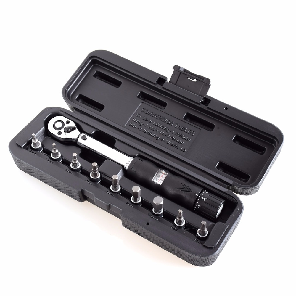 1/4DR 2 14Nm bike torque wrench set Bicycle repair tools kit ratchet machanical torque spanner manual torque wrench