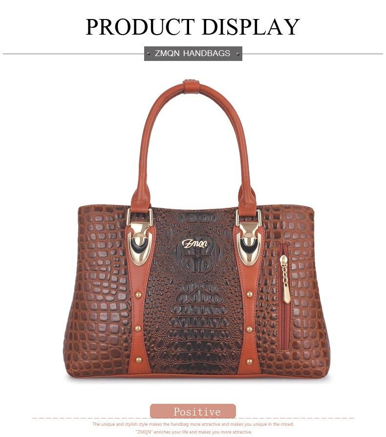 daf75ee8bd4 Women's Handbag 2018 Women Leather Handbags Bags For Women Bags Designer  Luxury Handbags Crocodile Lady Hand Bags Bolsa Feminina