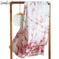 Scarf 100 Natural Silk Scarf Luxury Brand Long Women Winter Female Printed Shawls Wrap Foulard Femme