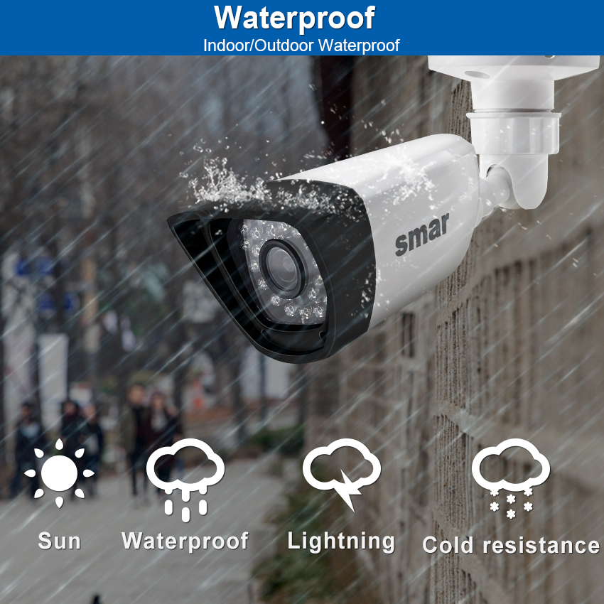Image 2 - Smar HD H.265 1080P IP Camera 20FPS Outdoor Waterproof Street Security Camera 30PCS IR LEDS 15 25M XMEYE P2P Free ONVIF Plastic-in Surveillance Cameras from Security & Protection