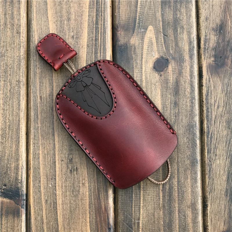 Luxury Fashion Leather Car Key Wallets for Men Vintage Cars Key Holder Women's Car Key chains Bag Case Housekeeper Car Key Cover