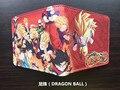 Anime DRAGON BALL Super Saiyan Sun Wukong cortas Niñas monedero bifold de cuero de la pu Monedero de La Cartera