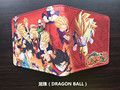 Anime DRAGON BALL Super Saiyan Sun Wukong  short leather pu Boys Girls wallet bifold Purse Wallet